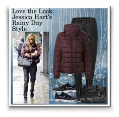 """""""Rainy Day Style"""" by karen-bachman ❤ liked on Polyvore featuring Moncler and rainyday"""