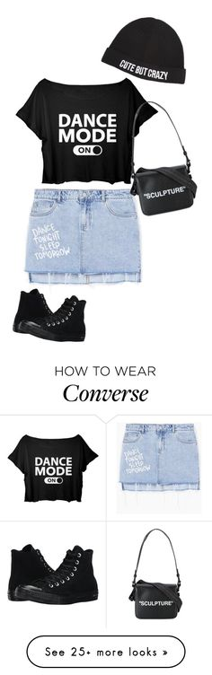 """Untitled #2131"" by sylviabunny on Polyvore featuring MANGO, Converse, Off-White and Chiara Ferragni"
