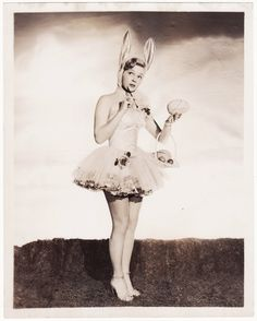 Bunny Bombshell - Vintage 1950s Cheesecake Pinup Photo