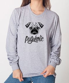 Pug T-Shirts, Tank Tops & Sweatshirts | Righteous Hound - perfect for Pug lovers - lots of other breeds available too + a percentage of proceeds go directly to support rescue and adoption!