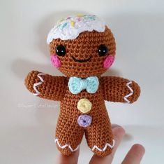 Gingerbread man PDF PATTERN amigurumi by SuperCuteDesignShop