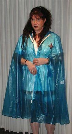 Blue Raincoat, Pvc Raincoat, Plastic Raincoat, Capes, Rain Suit, Pvc Vinyl, Rain Wear, Suits, Vinyls