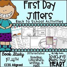 First Day Of School Activities, School Resources, Writing Activities, Teacher Resources, Teaching Ideas, Back To School Night, 1st Day Of School, Beginning Of School, First Grade Jitters