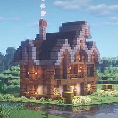 Minecraft Builds on Minecraft Cottage, Easy Minecraft Houses, Minecraft Castle, Minecraft Medieval, Minecraft Plans, Minecraft Decorations, Amazing Minecraft, Minecraft Blueprints, Minecraft Crafts