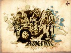 Sección de revista, Indigente / Stencil & digital.