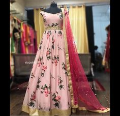 It's so hard to come across good budget lehenga store these days, especially in Delhi. Delhi as a bridal market is slightly on the expensive side. But the city does… Indian Fashion Dresses, Indian Gowns Dresses, Dress Indian Style, Indian Designer Outfits, Pakistani Dresses, Fashion Outfits, Long Gown Dress, Saree Dress, The Dress