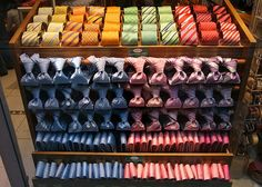 Roll them, fold them, knot them, how do you store your neckties? For every man's closet that wear ties often.