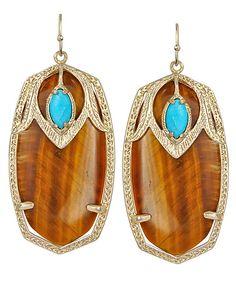 Freaking amazing. (Darby Earrings in Tigers Eye - Kendra Scott Jewelry)