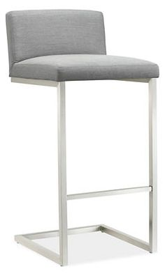 "Lira Counter Stool $549 Dimensions: 18""w 19""d 33""h Inside Seating: 18""W 16""D In stock  Sunbrella fabric  frame: stainless steel"