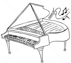 Illustration about An image of a piano. Illustration of keys, concert, vector - 15077044 Vector Portrait, Orchestra, Coloring Pages, Illustration, Inspiration, Image, Google, Art, Quote Coloring Pages