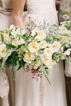 Bridal Bouquets and Wedding Flowers: White and Green Bouquet