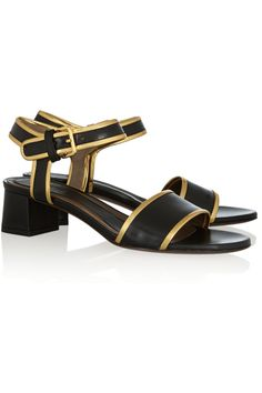 Marni | Leather sandals | NET-A-PORTER.COM