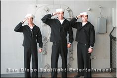 Vintage Sailor characters by San Diego Spotlight Entertainment