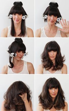 The types of rollers for medium hair styles are searched by women and girls to have beautiful hair. Because beautiful hair is the body's natural accessory. Work Hairstyles, Curled Hairstyles, Blowout Hairstyles, Hair Rollers Tutorial, Blowout Hair Tutorial, Hot Roller Curls, Hot Rollers Hair, Curlers For Long Hair, Using Hot Rollers