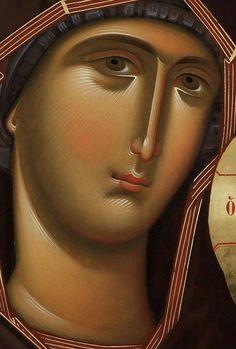 Orthodox Catholic, Catholic Art, Byzantine Art, Byzantine Icons, Religious Icons, Religious Art, Jesus Face, Holy Mary, Madonna And Child