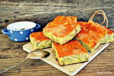 Aperitiv budinca de dovlecei cu branza Spanakopita, Avocado Toast, Pie, Vegetarian, Breakfast, Ethnic Recipes, Homemade Food, Drink, Torte