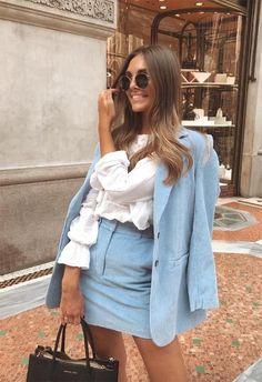 40 Casual Office Fashion Inspiration for Women 2019 – Work Fashion Blazer Outfit, Look Blazer, Fashion Mode, Work Fashion, Fashion Looks, Blue Fashion, Fashion For Women, City Fashion, Hipster Fashion