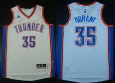 Oklahoma City Thunder #35 Kevin Durant Revolution 30 Swingman 2014 New White Jersey