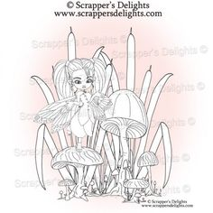 Fairy Glades V2 Many of you asked if I could sell some of the images within the digital colouring book  separately and in all formats so here they are.  1 Design 3 Images in total  JPG & PNG format  THIS IMAGE IS WITHIN THE  Fairies And Pixies V2 Colouring Book Digital Download http://scrappersdelights.com/store/index.php?main_page=product_info&cPath=211&products_id=968   Simply print and colour in as you would a traditional rubber stamp or leave clear Perfect for Stitching, Painting…