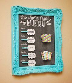 Life {Sweet} Life: DIY Easy Meal Planning Board {Free Printable}