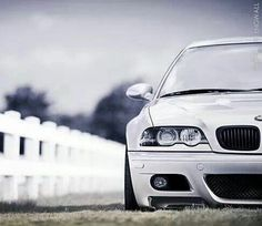 BMW E46 M3 white slammed
