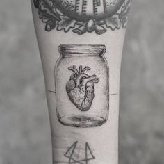 Anatomical Heart Inside a Jar by mr.k_tattoo