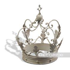 Rustic Decorative Crowns   Antique White Decorative Crown