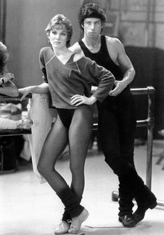 Cynthia Rhodes and John Travolta in Staying Alive, 1983