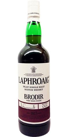 Laphroaig's Brodir single malt Scotch whisky was released to the Travel Retail Market.  The whisky was first matured in ex-bourbon barrels before transferring over to casks that once held Ruby Port. Brodir in ancient Norse means Brother. This Laphroaig is a very handsome dram indeed.  Slainte