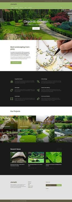 Gardening & Exterior Professional Design #Website #Template