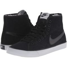 Nike Primo Court Mid Suede Women's Shoes (295 RON) ❤ liked on Polyvore featuring shoes, nike, suede shoes, roll up shoes, adjustable shoes en herringbone shoes