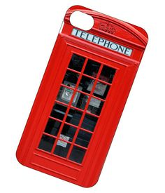 London Telephone Booth iPhone Case - iPhone 4, iPhone 4s case- iPhone cover- Hard plastic for iPhone 4 4s. $16.95, via Etsy.