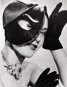 by elsa schiaparelli, mask, headpiece, gloves, chic, beauty, timeless, classic, fashion, style, wise, black