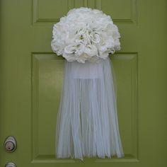 Cute idea:  Wedding Wreath - Bridal Shower Wreath, Etsy