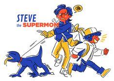 steve the supermom   stranger things art