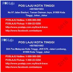Latest updates: POS LAJU KOTA TINGGI Business Card #blogger #malaysia