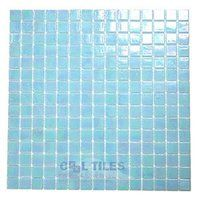 "HotGlass - Luster - 3/4"" Glass Tile in Cloud 12 7/8"" x 12 7/8"" Mesh Backed Sheet"