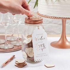 Das etwas andere Hochzeitsgästebuch: Wunschglas mit Kupferdeckel, aus einem Einmachglas / wedding guest book alternative: maison jar for wishes made by Lolima-Shop via DaWanda.com