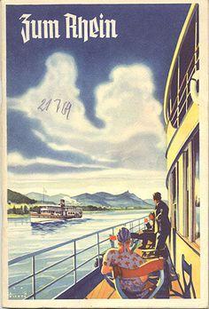 "GERMANY - TO THE RHINE - ""Zum Rhein,"" 1935 TRAVEL BOOKLET"