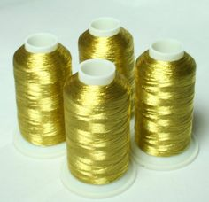 NEW ThreadNanny 4 ANTIQUE GOLD METALLIC MACHINE EMBROIDERY THREAD CONES -- You can get more details by clicking on the image.