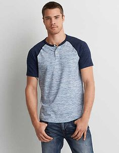 Shop casual Men's T Shirts at American Eagle. Find crew neck t shirts, henley t shirts, graphic tees, v neck t shirts, drop shoulder t shirts & more in new colors and styles. Teenage Boy Fashion, Mens Outfitters, Eagle Outfitters, Mens Designer Shoes, Men Style Tips, Cut Shirts, Tee Design, Jacket Style, Shirt Jacket