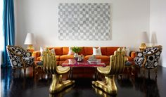 Jonathan Adler designs a house for some obviously really rich people and now I want to move in.