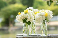 Milk Bottles For Wedding Flowers