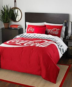 Shop for The Northwest Company Coca-Cola Bottles Twin/ Full Comforter Set. Get free delivery On EVERYTHING* Overstock - Your Online Fashion Bedding Store! Full Comforter Sets, Bedding Sets, Twin Comforter, Pillow Shams, Pillow Covers, Pillows, Pepsi, Garrafa Coca Cola, Bedroom Decor