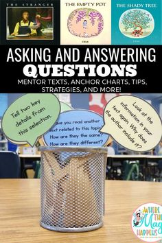 This is an article with tips, strategies, and anchor charts to teach the skill of asking and answering questions to students in first grade, second grade, and third grade. You will find picture books and book series to use as mentor texts to teach this skill. Many activities and FREE resources, close reading brochure activities, for your students in 1st, and, and 3rd grade. Help Teaching, Teaching Reading, Reading Strategies, Reading Skills, Find Picture, Picture Books, Question And Answer, This Or That Questions, Nate The Great