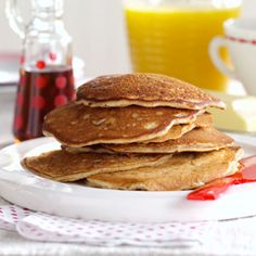 Pecan Apple Pancakes Recipe from Taste of Home -- shared by Sharon Richardson of Dallas, Texas