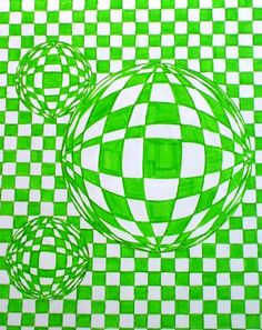 Art I Optical Illusions Projects For Kids, Art Projects, Crafts For Kids, Arts And Crafts, Arts Ed, Doodle Drawings, Art Classroom, Student Work, Op Art
