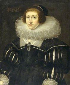Katheryn Spiller, Lady Reynell by Cornelis Janssens van Ceulen(attributed to) National Museum of Wales / Amgueddfa Cymru      Date painted: 1631