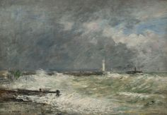 Eugène BOUDIN, Entrée des jetées du Havre par gros temps, 1895. © MuMa Le Havre / David Fogel