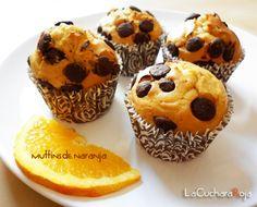 Una de las combinaciones favoritas de Marta:  Muffins de naranja y chocolate.
